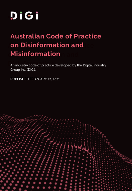 Disinformation Code PDF